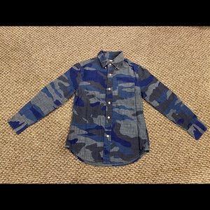Boys long sleeve collard shirt